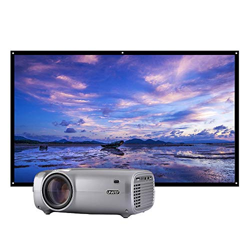Docooler U43 U43 LED LCD-projector 1080P thuisbioscoop 2600 lumen 200 inch Projectieformaat 1280 * 720P HD IN VGA AV met 100 inch projectorscherm HD 16: 9 voor notebook-laptop DVD-speler