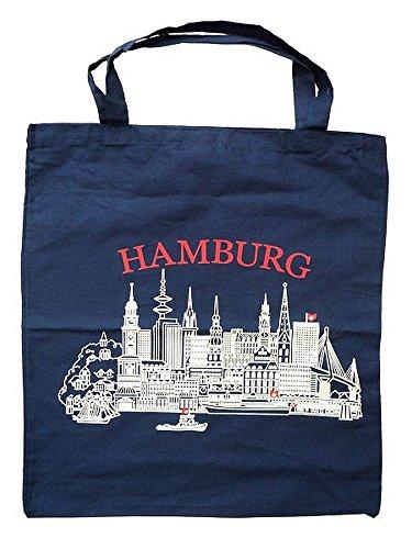 City Souvenir Shop Stoff-Tasche Hamburg, blau