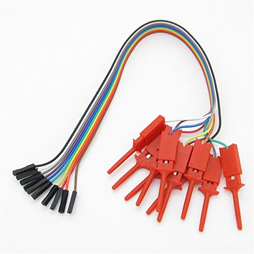 A Set 10pcs Red Logic Analyser Useful High Efficiency Clip Ideal Test Hook