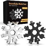 hinshark regali natale -18-in-1 multi-tool snowflake, multi attrezzo in acciaio portatile, idee regalo natale, 2020 gadget idee regalo uomo, regali natale uomo, regalo uomo fai da te attrezzi(2pack)