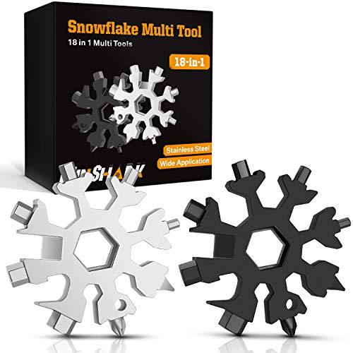 Hinshark Geschenke für Männer - 18-in-1 Schneeflocken Multi-Tool, Adventskalender Männer 2020, Gadgets für Männer, Weihnachtsgeschenke, Coole Werkzeug Kleine Geschenk für Männer, Papa, Frauen(2Pack)