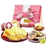 敬老の日 の プレゼント おいもやどら焼き ギフトセット 敬老の日ギフト 冷凍 (ピンク色風呂敷)