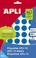 【APLI】手書き丸カラーラベル 40片 (AP-02743)