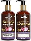 Glamorous Hub WOW Skin Science Kit shampoo e balsamo all'olio di semi neri di cipolla rossa con estratto di cipolla rossa di neri e vitamina B5 pro (shampoo + balsamo) (l'imballaggio può variare)