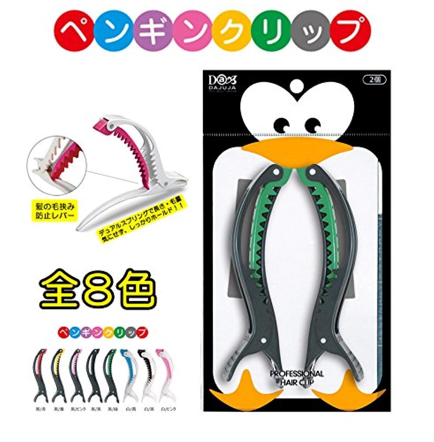パネル音ピクニックDAJUJA ペンギンヘアクリップセット2個入り(黒/緑)