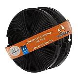 DREHFLEX - AK75-2 - Kohlefilter / Aktivkohlefilter / Filter / Geruchsfilter - passend für diverse Dunstabzugshauben / Hauben / Essen für AEG-Electrolux / Faber / Ikea / Smeg - passend für Teile-Nr. 4055093712 / 405509371-2 / 112.0067.944 / 112.0254.245 etc. …