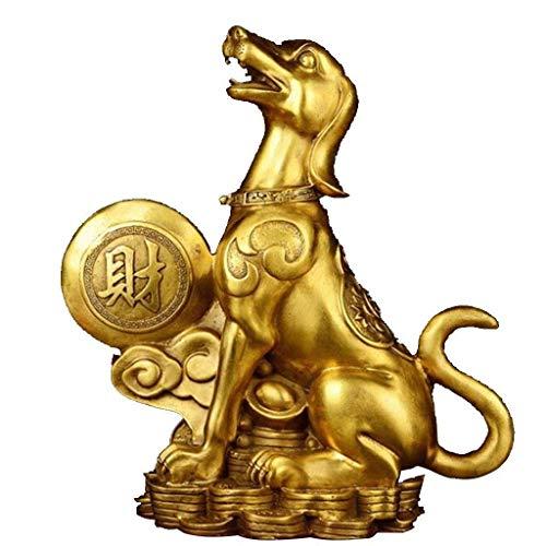 ZLBYB Gold überzogener Hund  Haus, Schlafzimmer, Wohnzimmer Dekor  Entzückendes Neujahrsgeschenk (Size : 23cm*7cm*24cm)