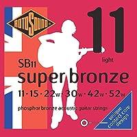 Rotosound ロトサウンド アコースティックギター弦 Phosphor Bronze/Light (.011-.052) SB11