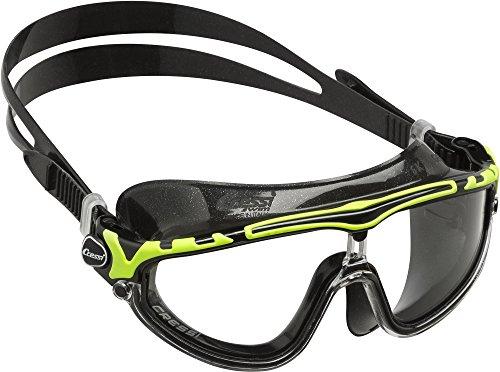 Cressi Skylight Premium Gafas de Natación Anti-vaho, Unisex Adulto, Negro/Lime, Talla única