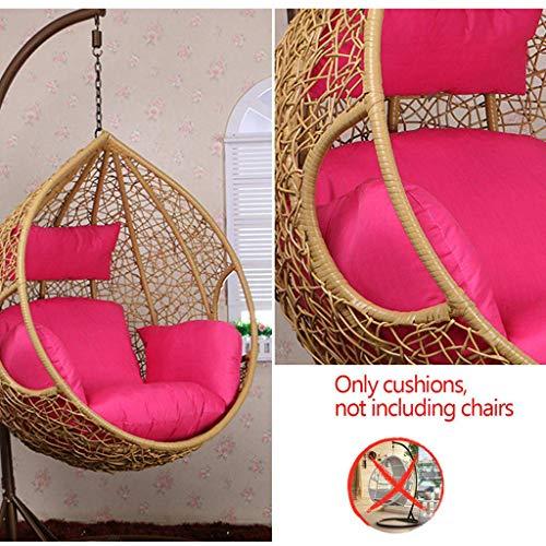 BLSTY Verdikke algemene doeleinden hangstoel stoelkussen, afneembaar zacht zitkussen voor vogelnestschommel hangende mand rugkussen zonder houder Groß K