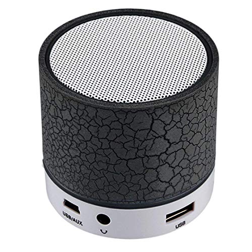 Veera S10 Light Smart Small Led Wireless Portable Bluetooth Speakers Support Tf Card/USB Flash Drive/Fm Radio for All Android Smartphones & Tablets