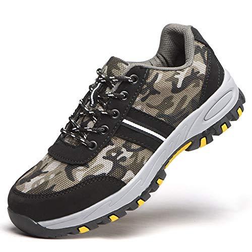 YYQIANG Labor Insurance Schuhe Sicherheitsschuhe Anti-Smashing Anti-Rutsch Anti-Rutsch-Tarnung Freizeitschuhe (Color : As picture, Size : 42)