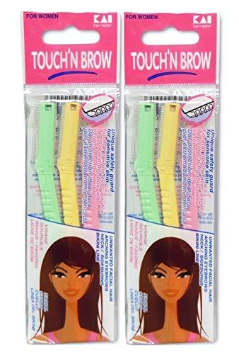 KAI TOUCH N BROW Eyebrow Razor ( Pack of 2 )