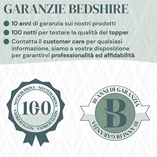 Bedshire Topper Matrimoniale 160x195 Materasso Correttore in Memory Foam Alto 6 cm con Rivestimento Sfoderabile Futon Ortopedico