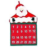 Mirrwin Calendario Adviento Adulto para Colgar el Calendario Navideño Calendario Adviento Tela Calendario Navidad Adecuado para Colgar en la Pared para la Decoración y con Ganas de Navidad