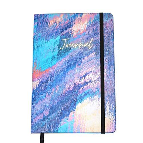 Notizbuch A5 kariert | 160 Seiten | Hardcover | PU-Leder | ideal als Tagebuch, Schreibheft, Journal, Blanko | Rosa, Blau, Gold… (A5)