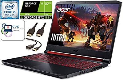 Acer Nitro 5 15.6 FHD Gaming Laptop, i5-9300H, GTX 1650, WiFi 6, CUE Accessories