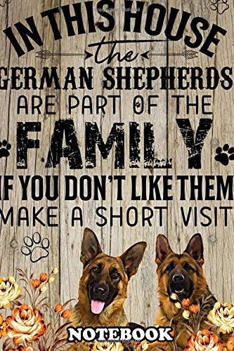 Notebook: German Shepherd Art 92 Poster Decor , Journal for Writing, College Ruled Size 6' x 9', 110 Pages