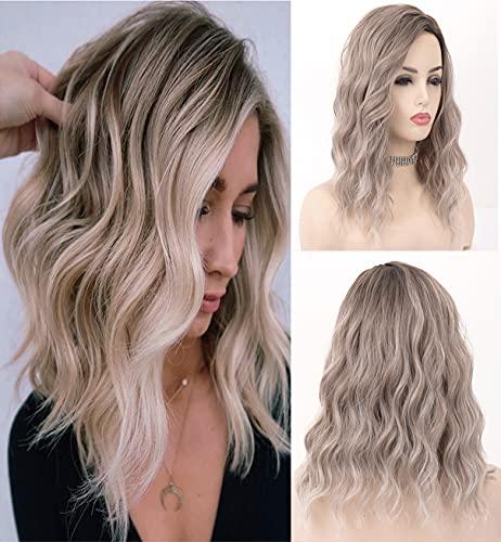 obtener pelucas mujer pelo rizado rubio corto online