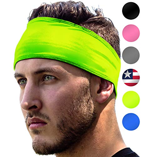 High Visibility Headband: Sport Headbands For Running & Jogging Safety at Night. Fits Women Men...
