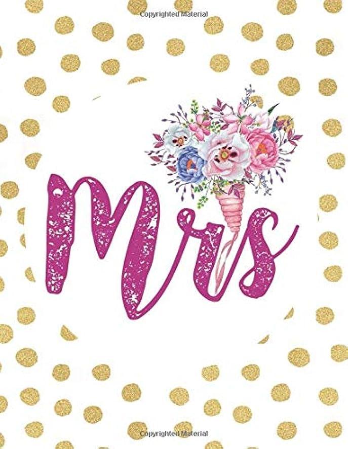 キー多様な祭りMrs: Wedding Planner Organizer Checklist Journal Notebook for Newly Engaged Couple Dots