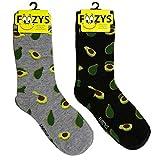 Foozys Women's Crew Socks | Cute Avocados Food & Drink Novelty Socks | 2 Pair