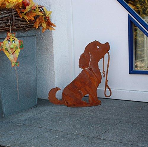 SAREMO Hund Lucy mit Leine, H ca 50cm