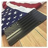 JASS GRAPHIX Hidden American Flag License Plate Matte Black...