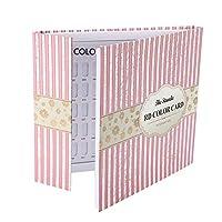 カラーチャート ブック - Delaman ネイル 色見本、ブック型 、ジェルネイル、カラーガイド、サンプル帳、120色 (ストライプカバー)