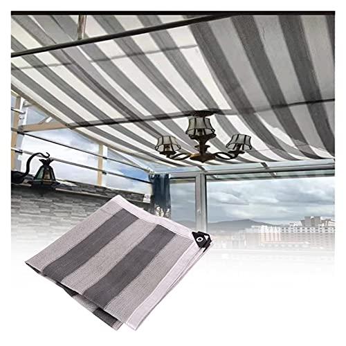 Jardín Toldos Exterior Terraza Grande Pabellón Toldos con Cuerdas Bloque UV Vela de Sombra Rectangular por Patio Exterior Patio Interior, Personalizable (Color : A, Size : 10x10m)