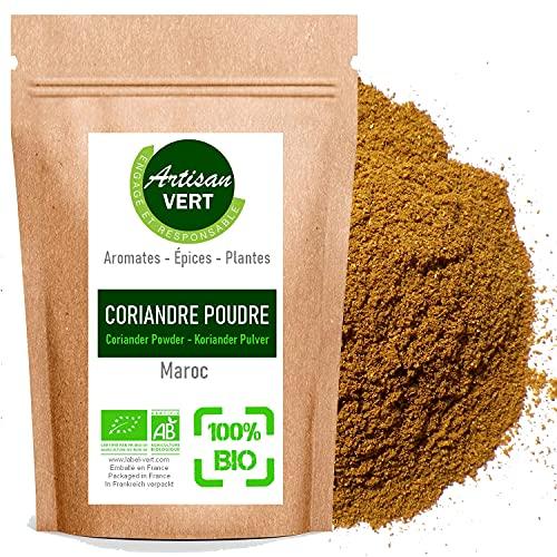 Coriandre Moulue BIO, en poudre 100g - L'Artisan du Vert