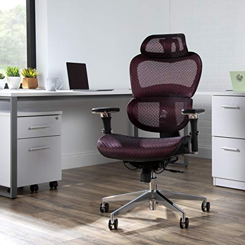 OFM Core Collection Ergo Office Chair featuring Mesh Back and Seat with Optional Headrest, in Burgundy