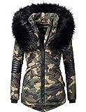 Navahoo Damen Winter Jacke Steppjacke Nirvana (vegan hergestellt) Camouflage Gr. S