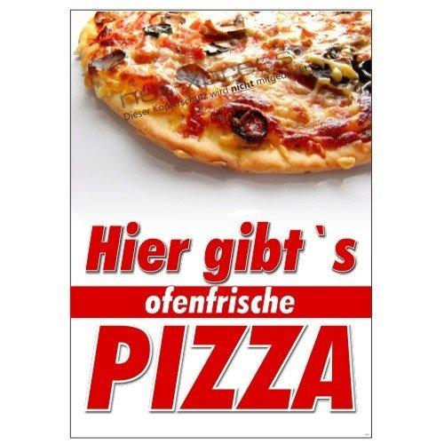 net-xpress Plakat Hier gibt's ofenfrische Pizza A1, Werbeplakat Poster Pizza Pizzeria