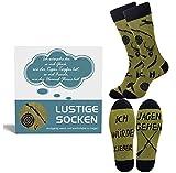Belloxis Hunter Socken Herren 43-46, Jagdsocken Jäger Geschenke für Männer, Wenn Du Das Lesen Kannst Socken