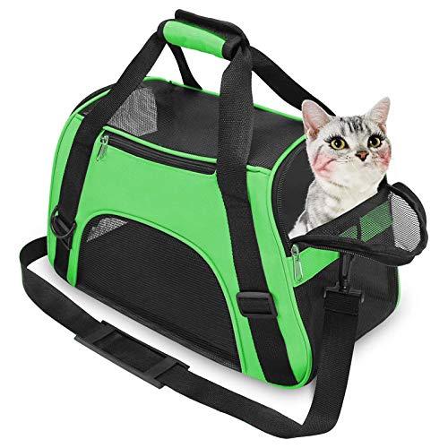 FHDFH Bolsa de Malla Transpirable para Mascotas, Bolso Portátil para Gatos Y Perros Al Salir, Eslinga Plegable de Cuero Suave para Mascotas para Perros Y Gatos