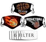 Linsanoi1 Sports 3pcs Masks for Outdoor Gardening Travel with 6 Filters Basketball its My DNA Outdoor Scarf