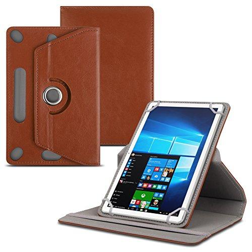 Lenovo Tab 2 A10-30 / F Tablet Schutzhülle für 10-10.1 Zoll Tablet Hülle 360° drehbar aus hochwertigem Kunstleder mit Standfunktion Schutz Tasche Cover Case Etui, Farben:Braun