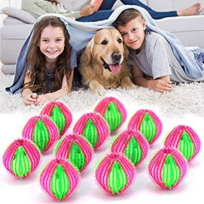 Pet Hair Remover for Laundry, 12 Packs of Washing Machine Dry Machine Balls Hair Catcher/Reusable Floating Animal Hair/Clothes/Bedding Washing Machine Dryer Float Ball for Pet Hair Catcher