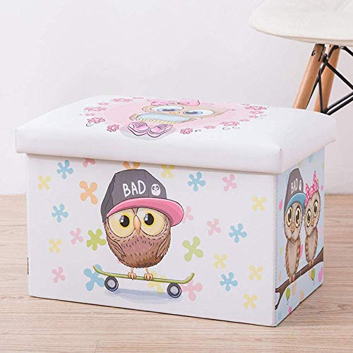 BASKET Laundry Hampers,Owl with Lid Laundry Hampers Fashion Design Thick Large-Capacity Collapsible Storage Bag Durable with Handle Organizer