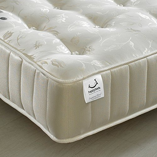 Orthopaedic Open Coil Spring, Happy Beds Ortho Royale Medium Firm Tension Mattress - 5ft UK King (150 x 200 cm)
