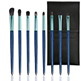 Professional Eye Makeup Brush Set Basic Blending Eyeshadow Brush Kit Starry Blue Cosmetic Brush 8pcs With Storage Bag