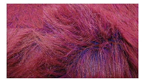 Fabrics-City PINK/BLAUMELANGE FLAUSCHIG LANGHAAR WEBPELZ STOFF PELZIMITAT STOFFE, 3140