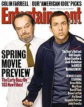 Entertainment Weekly Magazine #695 : Jack Nicholson and Adam Sandler (February 14, 2003)