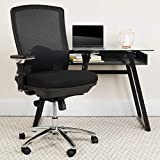 Flash Furniture HERCULES Series 24/7 Intensive Use Big & Tall 350 lb. Rated Black Mesh Multifunction Swivel Ergonomic Office Chair