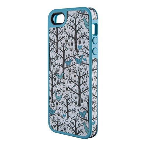 Speck FabShell - Carcasa para iPhone 5 y 5S, diseño de pájaros de Amor, Color Verde Azulado