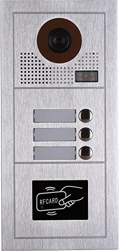 Portero automático con cámara y 2 hilos de conexión, 1, 2, 3, 4. Pantalla táctil LCD, para viviendas unifamiliares, bifamiliares, edificios de viviendas, etc.