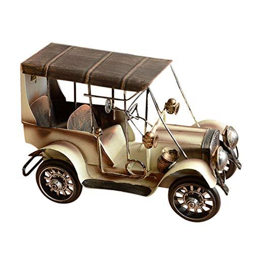 Modelo de coche clásico de hierro vintage, ilustraciones de juguetes de vehículos artesanales, tecnología placas de material premium Exquisita mano obra, para decoración del hogar Fiesta cumpleaños