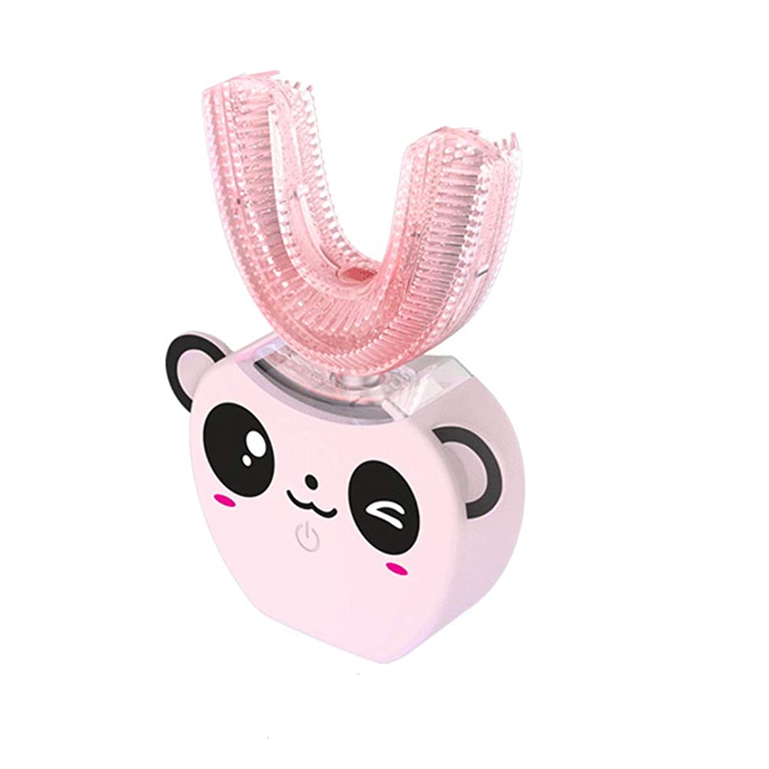 文字意図文字TOPBATHY 子供の電動歯ブラシのシリコーンのU字型自動歯のクリーニングブラシ