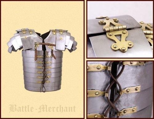 Battle-Merchant Lorica Segmentata (Corbridge A), aus rostfreiem Stahl, Gr. L